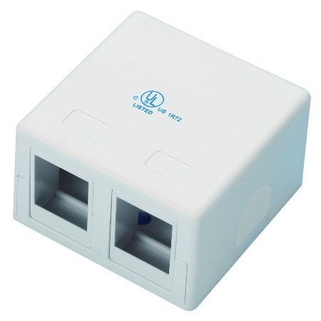 Surface mounting box 2 port