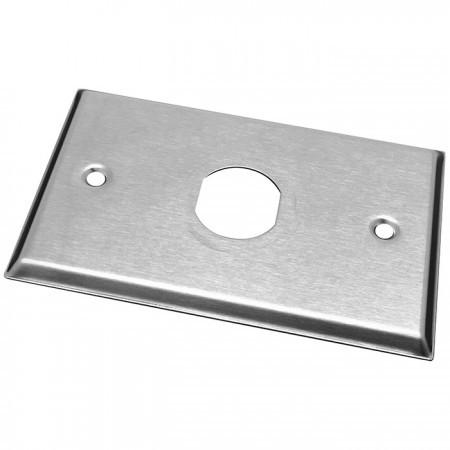 IP44 Industrial RJ45 Keystone Stainless Steel Faceplate