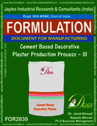 Cement Based Decorative Plaster Production Process – III