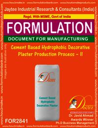 Cement Based Hydrophobic Decorative Plaster Production Process–II