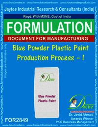 Blue Powder Plastic Paint Production Process-I