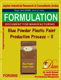 Blue Powder Plastic Paint Production Process – II