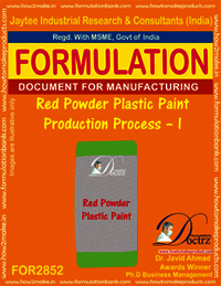 Red Powder Plastic Paint Production Process – I