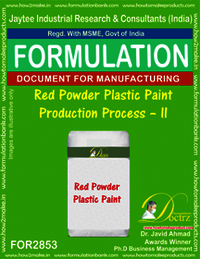 Red Powder Plastic Paint Production Process–II