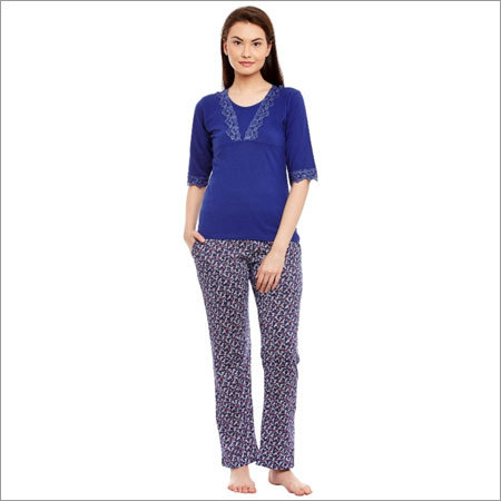 Ladies Designer Blue Night Suit