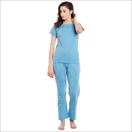 Ladies Blue Color Modern Night Suit