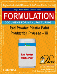 Red Powder Plastic Paint Production Process–III