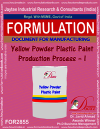 Yellow Powder Plastic Paint Production Process – I