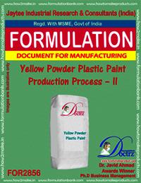 Yellow Powder Plastic Paint Production Process – II