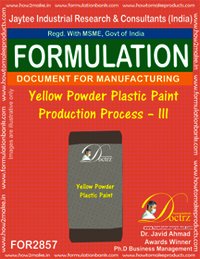 Yellow Powder Plastic Paint Production Process–III