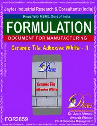 Ceramic Tile Adhesive White - II
