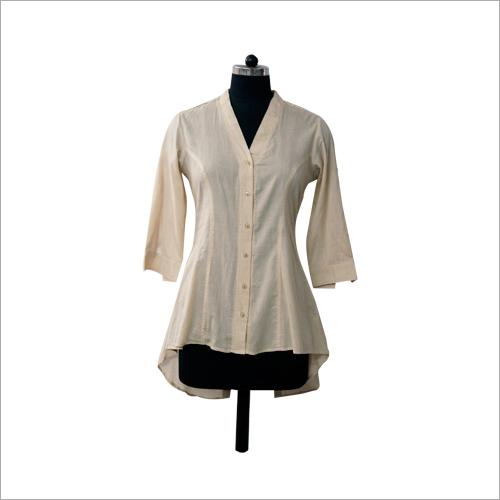 Cream Plain Shirt