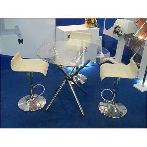 Round Table & Baestool Chair