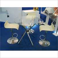 Round Table & Baestool Chair