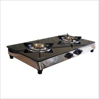 gas stove 2 burner black