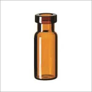 Crimp Neck Dark Amber Bottle