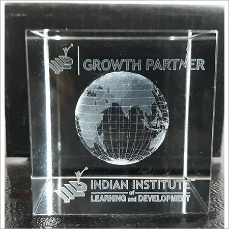 Corporate 3D Laser Engraved Crystal Cubes