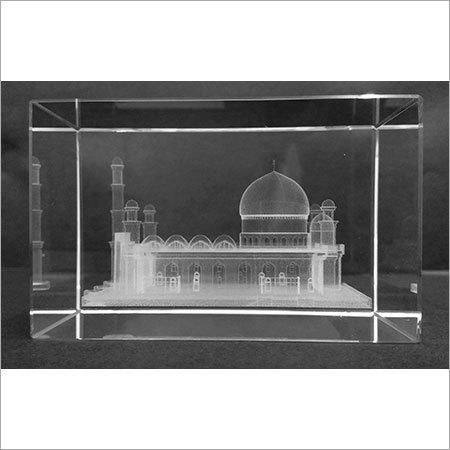 3D Laser Engraved Crystal Cubes
