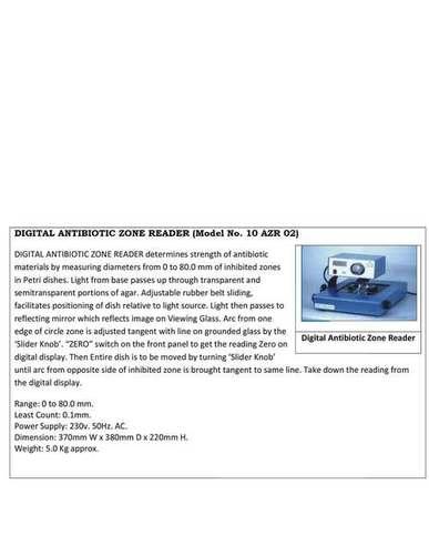 DIGITAL ANTIBIOTIC ZONE READER