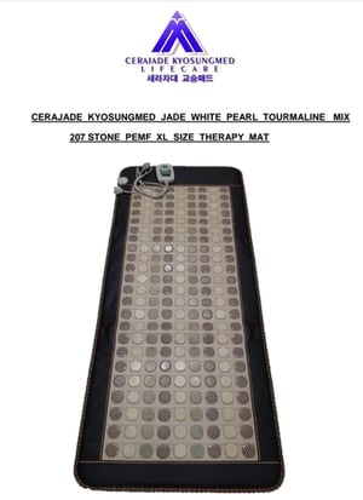 Jade  White Pearl Tourmaline PEMF Mat
