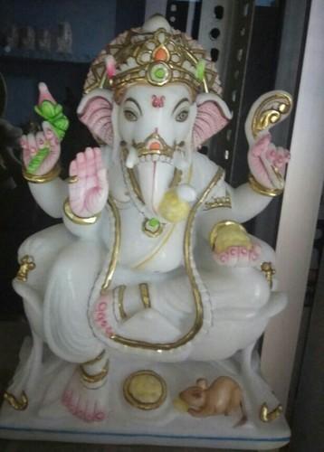 Makrana Marble Ganesh Murti Statue