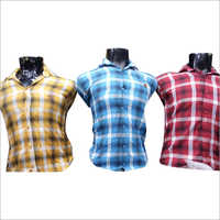 Mens Casual Cotton Checked Shirt