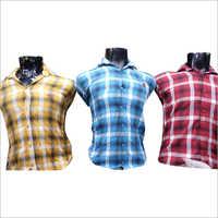 Mens Casual Cotton Checked Shirt