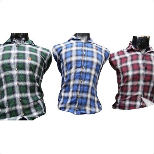 Mens Customized Checked Shirt