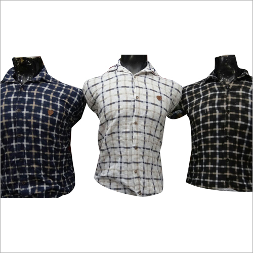 Mens Designer Checked Shirt