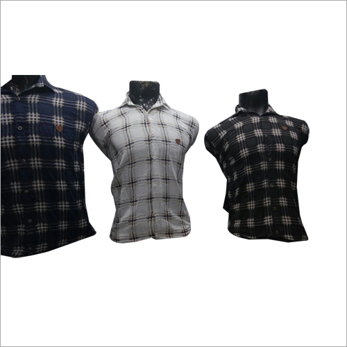 Mens Fancy Cotton Checked Shirt