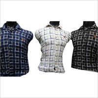 Mens Long Sleeve Checked Shirt