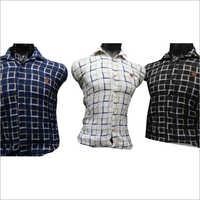 Mens Long Sleeve Checked Shirt