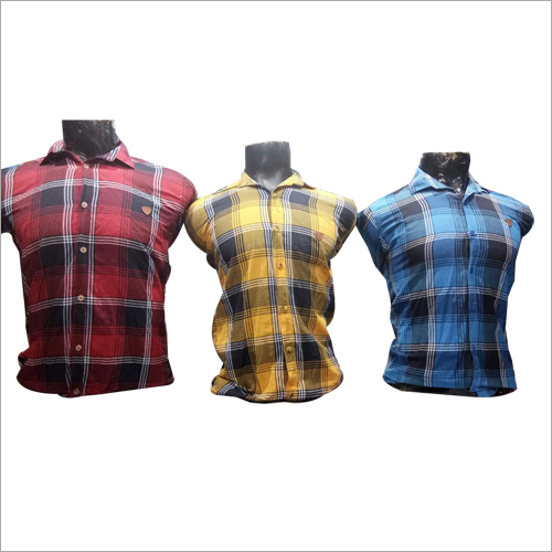 Mens Multicolor Checked Shirt