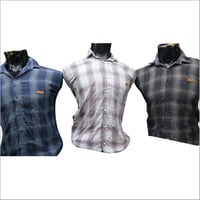 Mens Regular Fit Checked Shirt