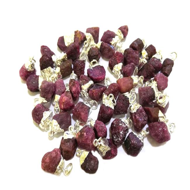 Natural Ruby Raw Gemstone Pendant