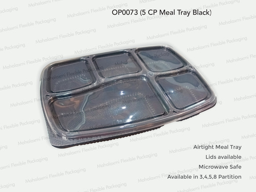 5 Partition Tray Black (O)