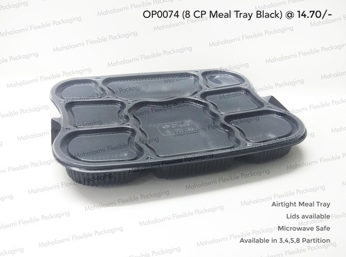 8 Partition Meal Tay Black (O)