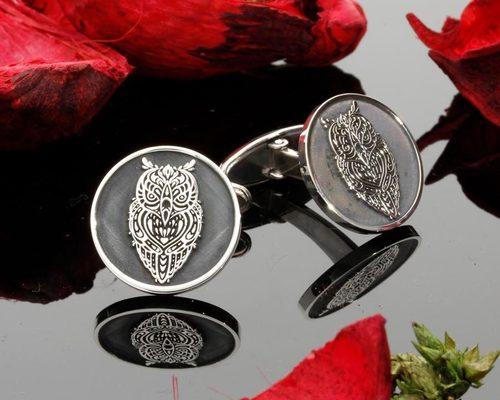 Embossed Engraved Cufflink