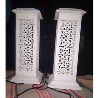 Pure White Jali Lamps