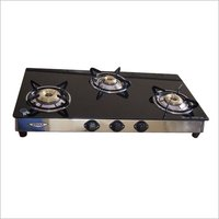 GAS STOVE 3 BURNER BLACK