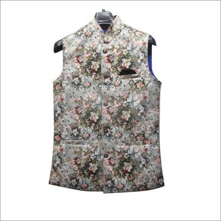 Mens Designer Print Waistcoat