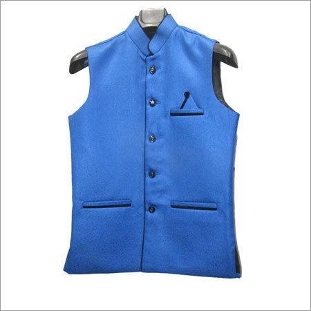 Men Blue Color Waistcoat