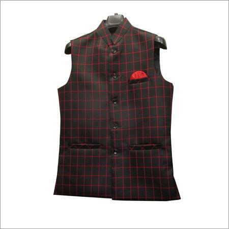 Men Black Color Fancy Waistcoat