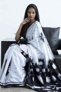 Mulmul pure cotton batik saree