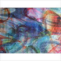 organza lining digital print fabric