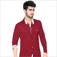 Maroon Full Sleeve Casual Shirt