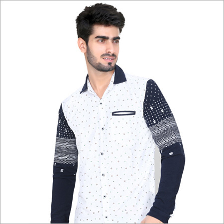 White print Full Sleeve Casual Shirt