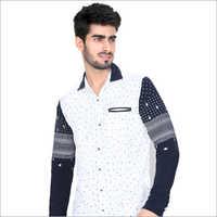 White print Full Sleeve Casual Shirt