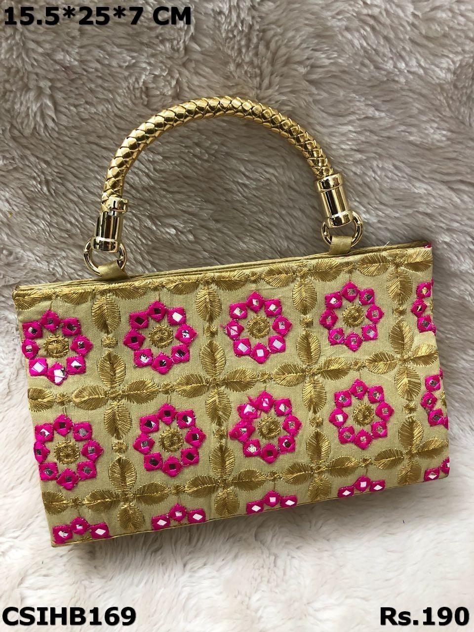 Embroidered handbag