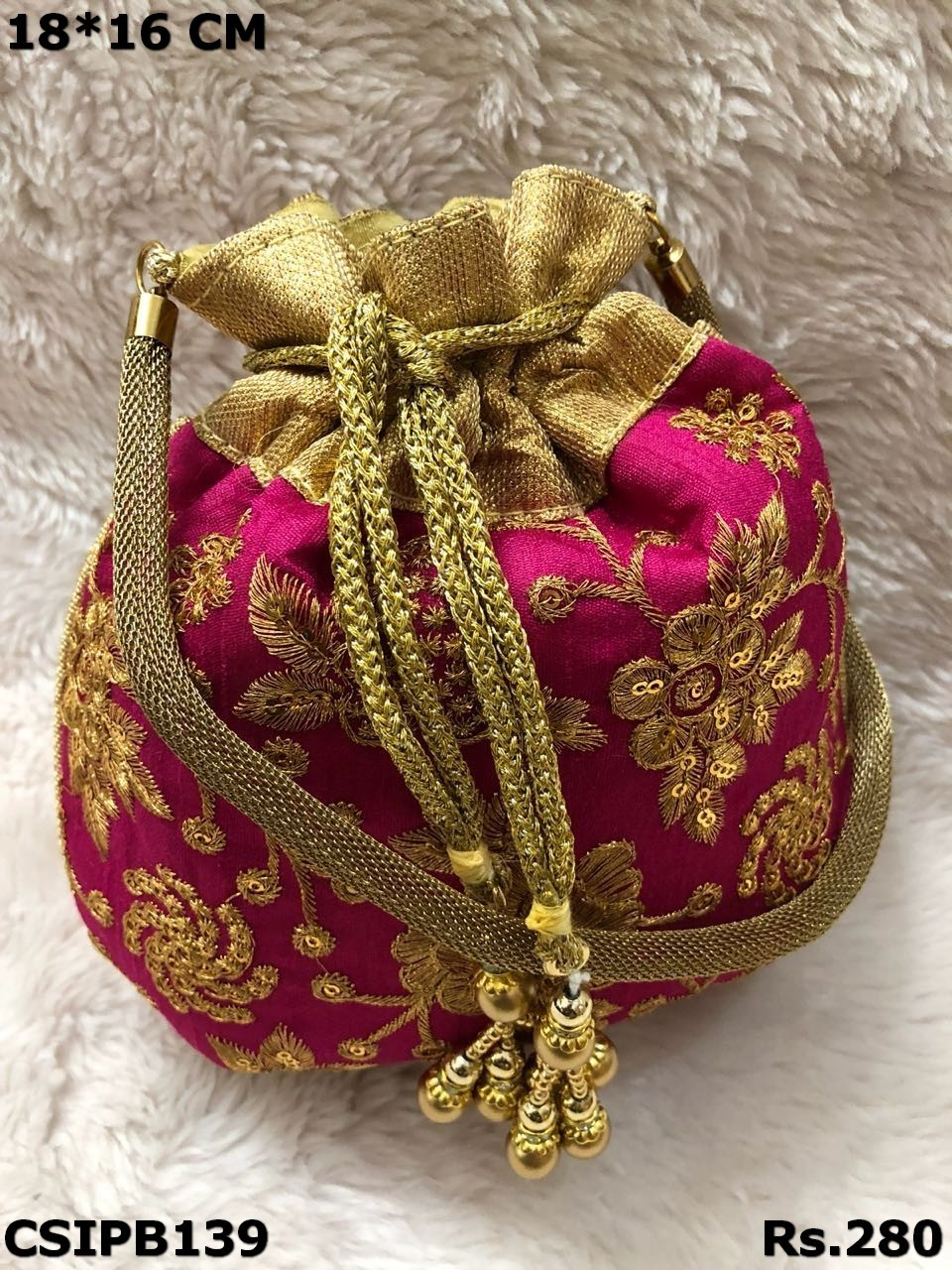 Embroidered Potli